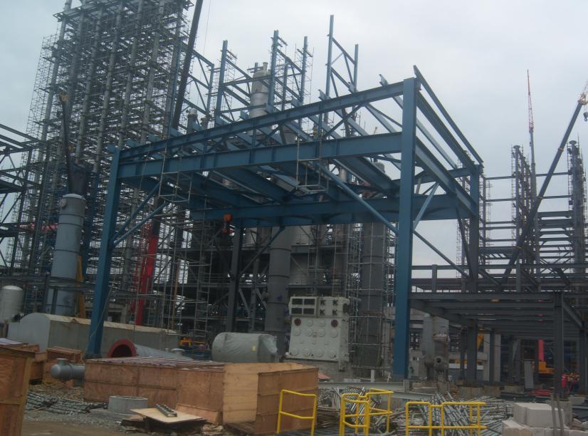 镇海炼化管廊架防腐工程